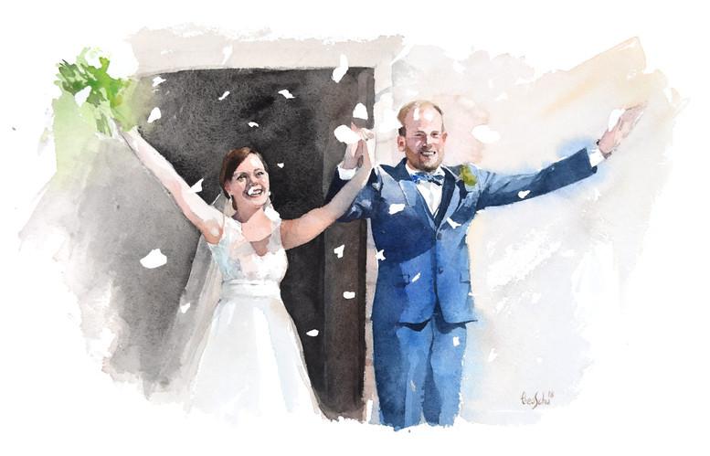 Aquarelle mariage