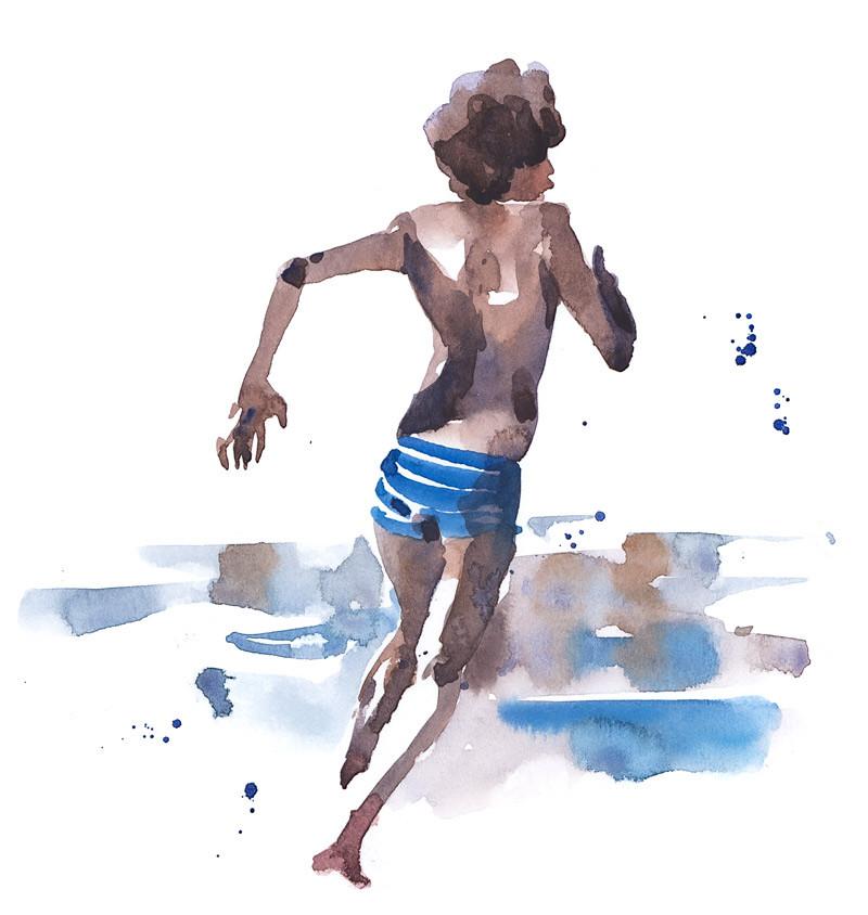 Petit garçon plage