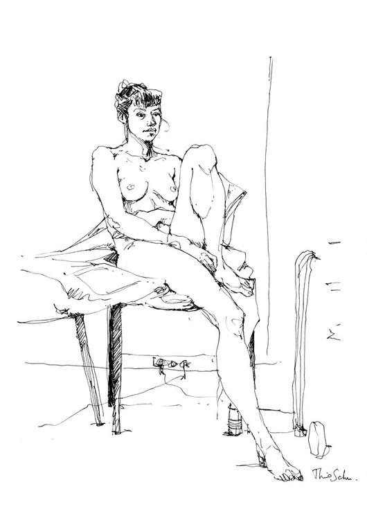 Modèle nue - Maéva