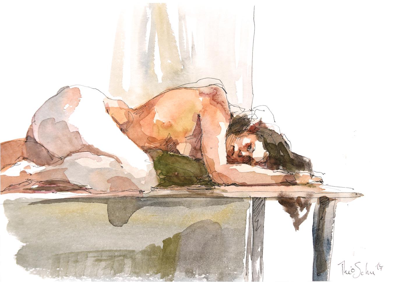 Modèle nue - Cécile