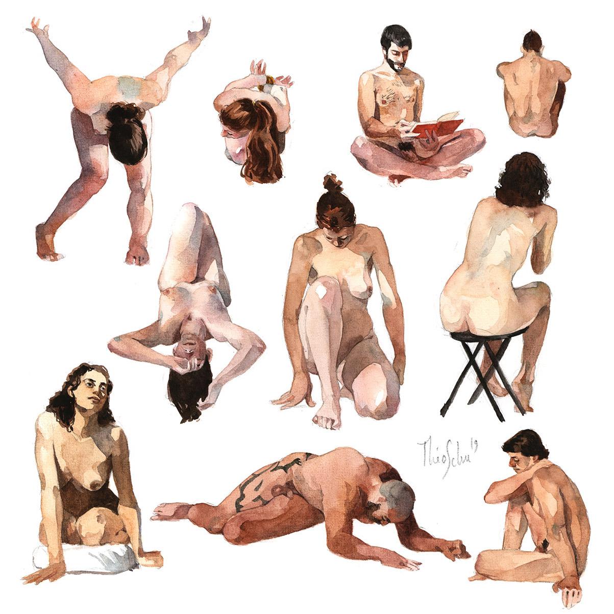 Modèles nus - Art models book