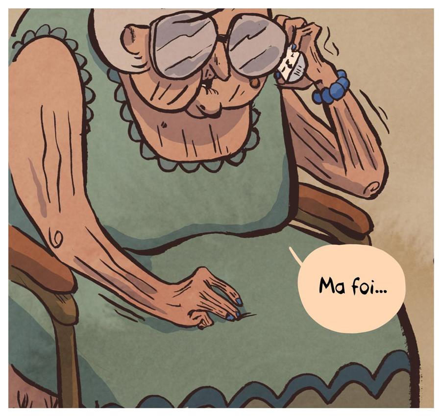 Bande dessinée - Un boulanger fantôme au téléphone