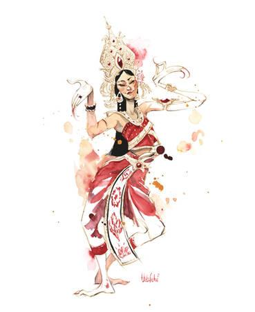 Danseuse thaïlandaise