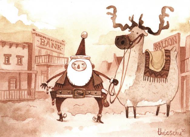 Santa-cow