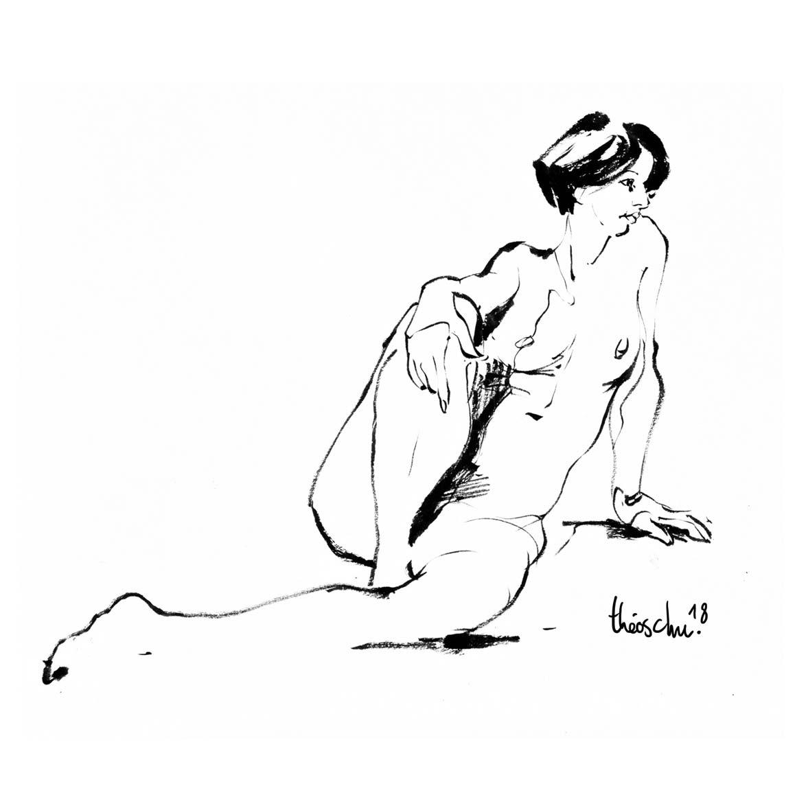 Modèle nue - Aurélie