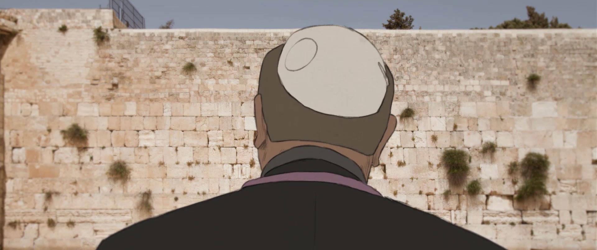 Daniel devant le mur des lamentations