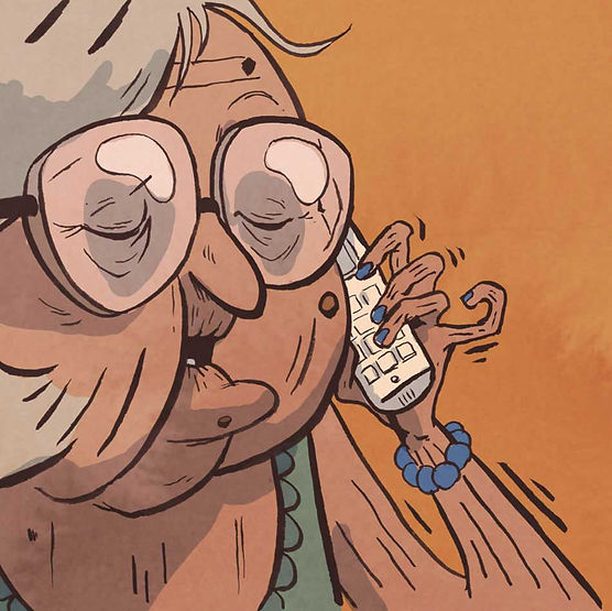 Bande dessinée - Boulanger fantôme téléphone
