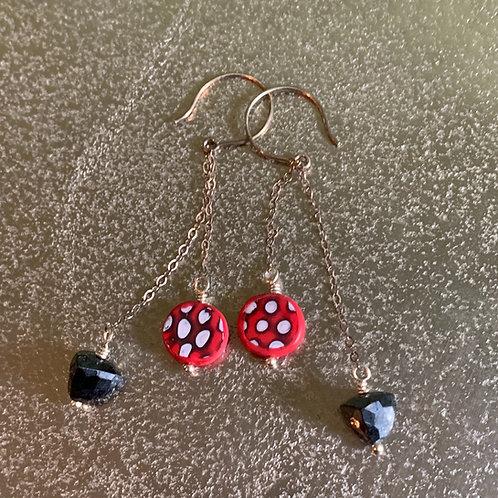 Chained Moon Earrings