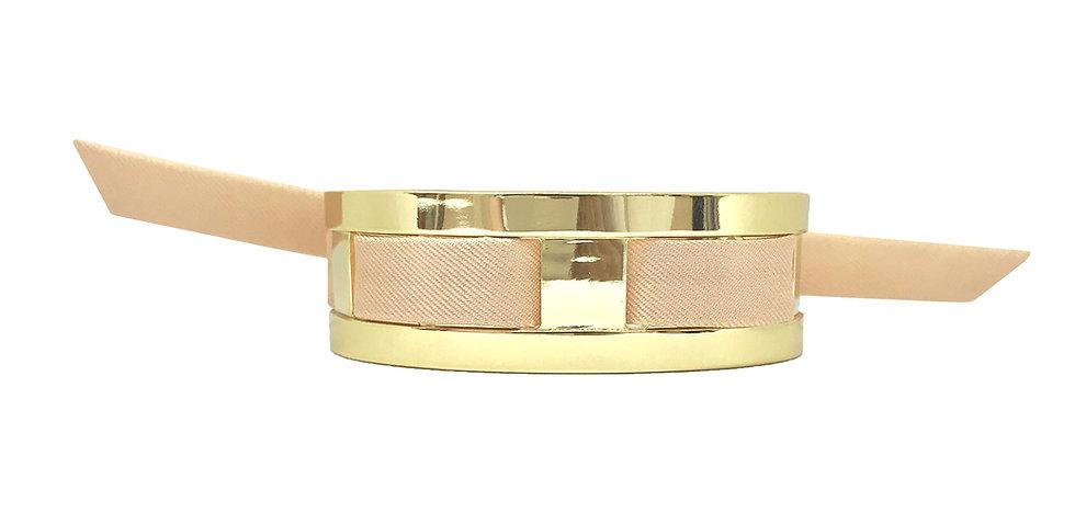 Petite Manchette JMA de 2 cm - Bracelet Nude