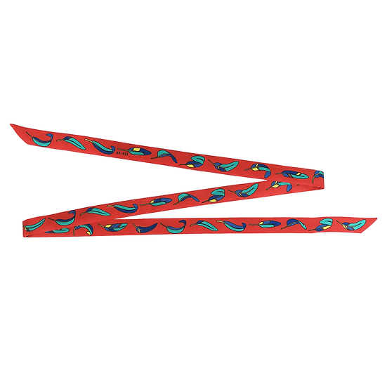 Headband ruban La Bataille - Rouge