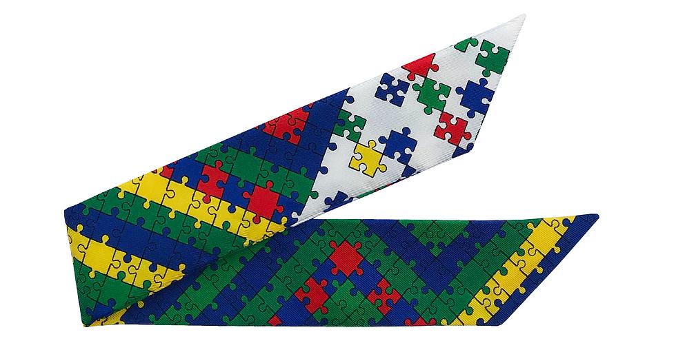 Bracelet 4cm - Puzzle, Blanc cassé