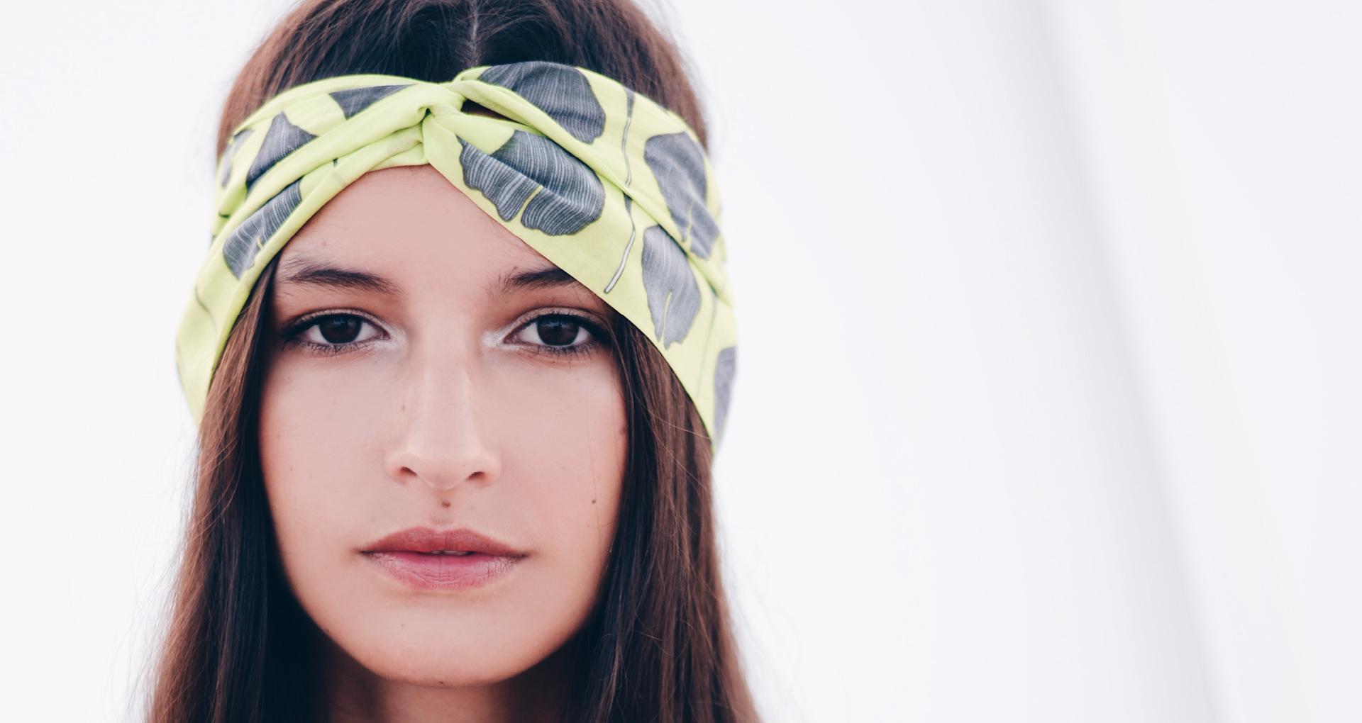 Grand headband Feuilles - Jungle