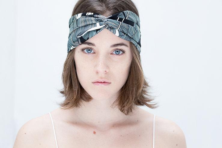 Grand Headband en soie Nature AN-NEE