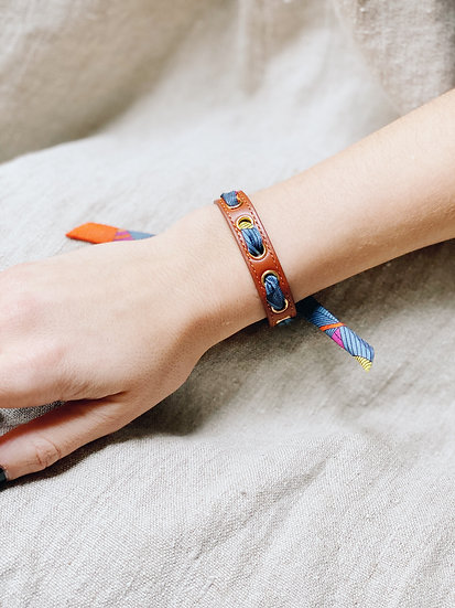 Bracelet camel Cycle, ruban Libre orange