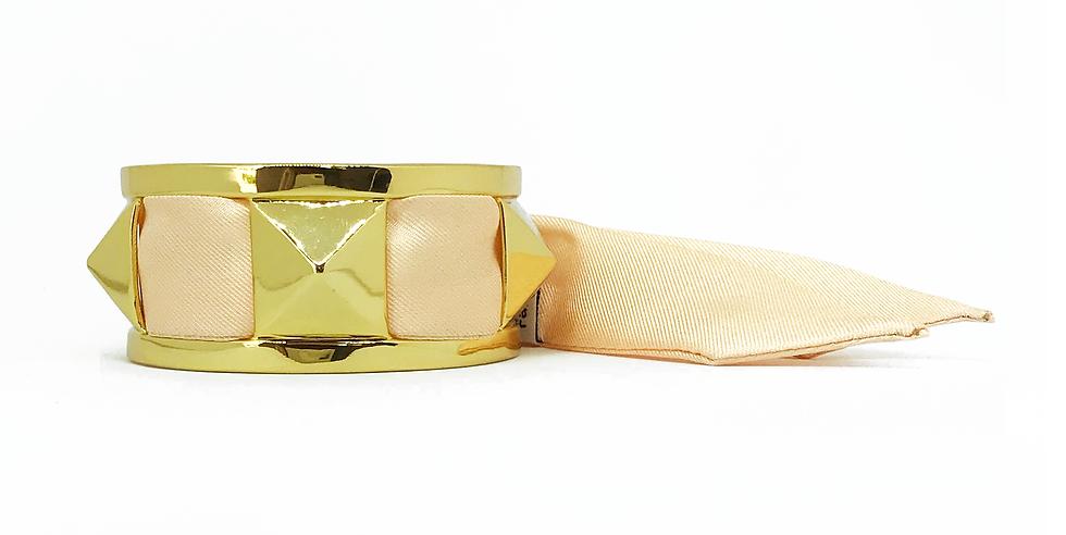 Manchette 3cm CLOU - Bracelet Nude