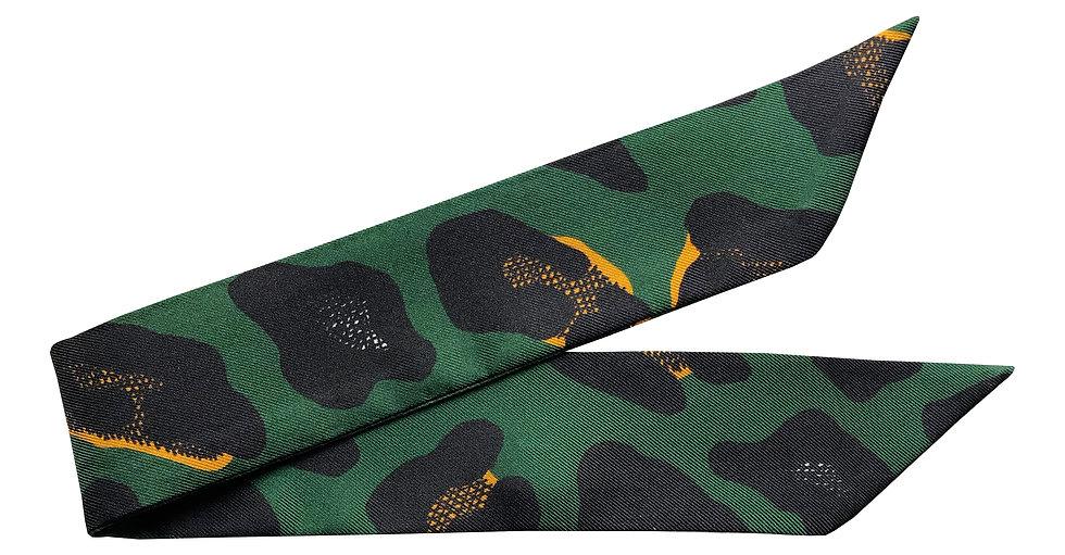 Bracelet 4cm Léopard - Vert