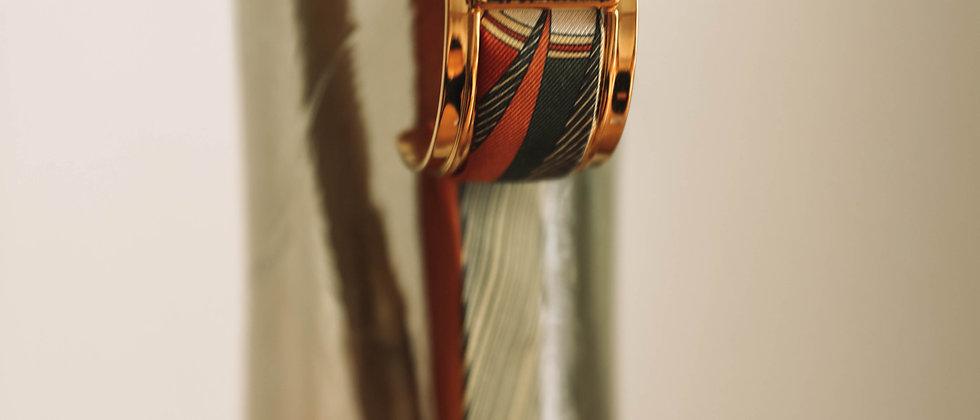 Manchette QUARTZ de 3 cm - Ruban Liberty, blanc cassé