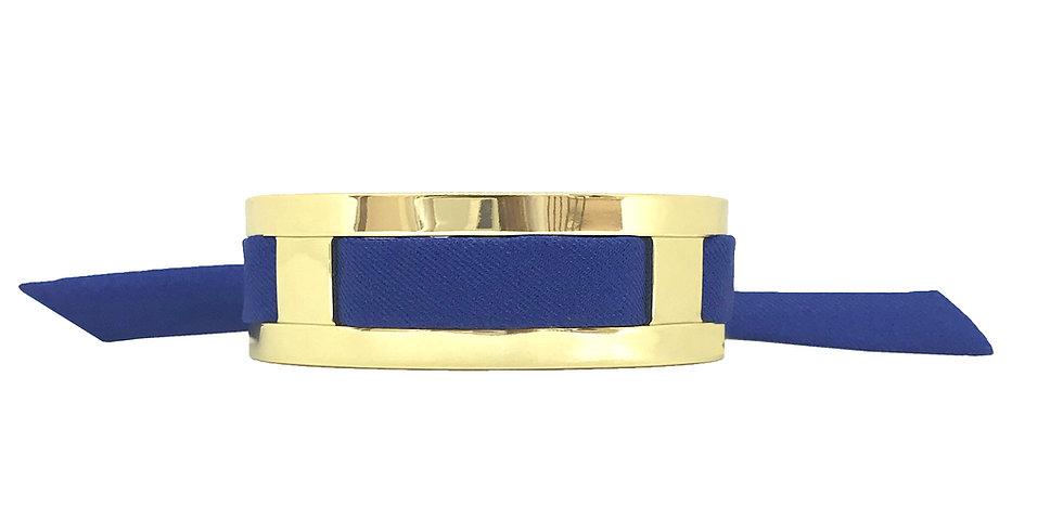 Petite Manchette JMA de 2 cm - Bracelet Bleu Electrique