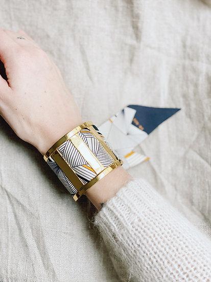 Grande Manchette JMA et bracelet Libre, noir