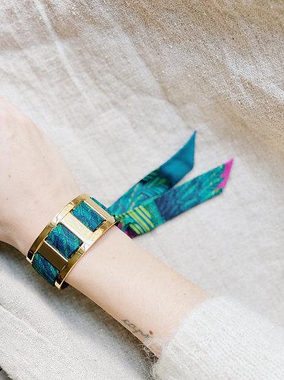 Manchette JMA de 3 cm - Bracelet L'Aigle, turquoise