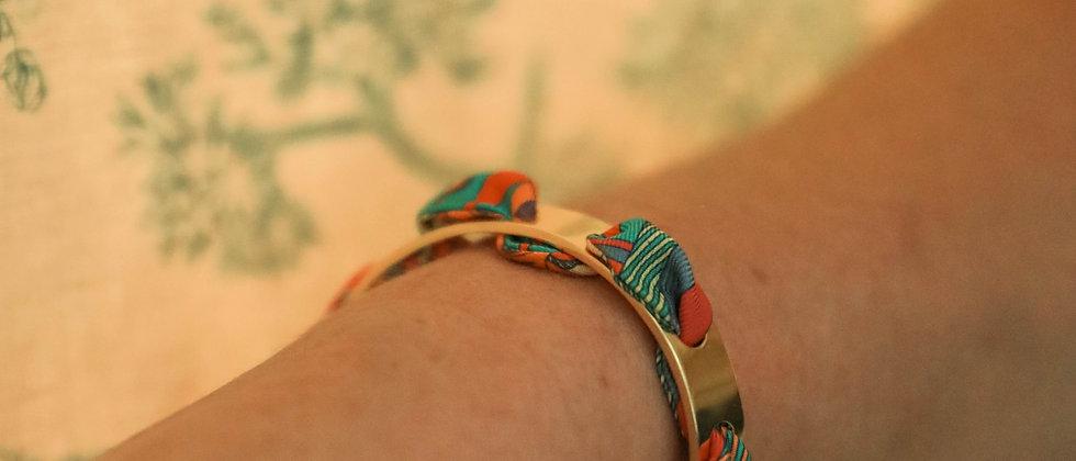 Bracelet Proust et ruban Soleil, corail