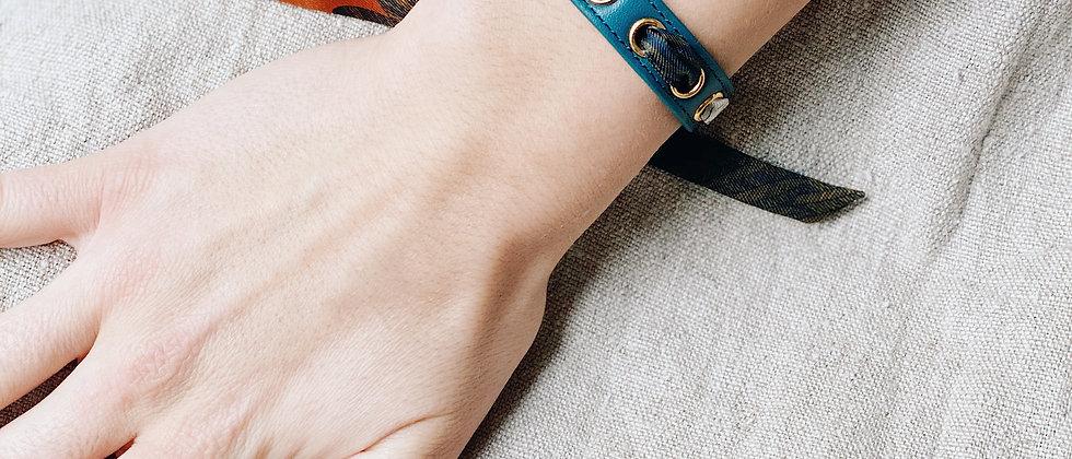 Bracelet octane Cycle, ruban L'Aigle Khaki