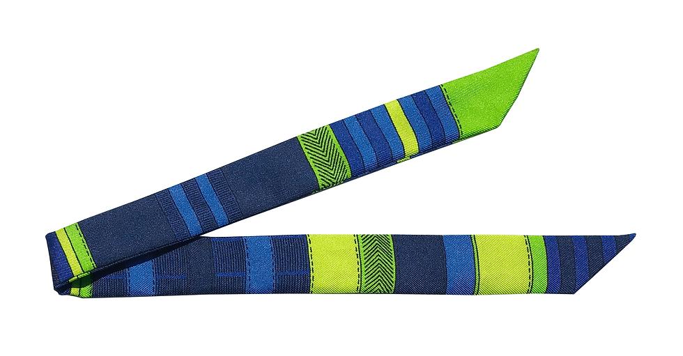 Ruban Transat, bleu et vert