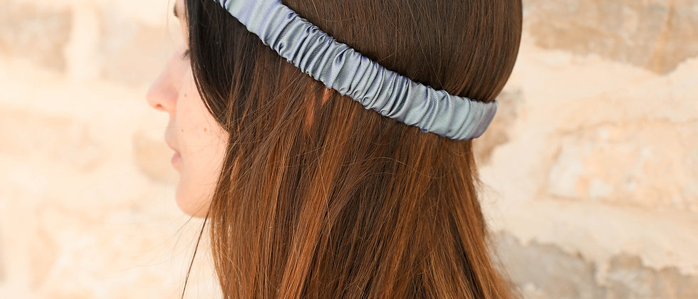 Headband froncé - Bleu ciel
