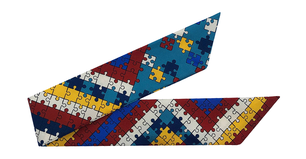 Bracelet 4cm - Puzzle, Bleu ardoise