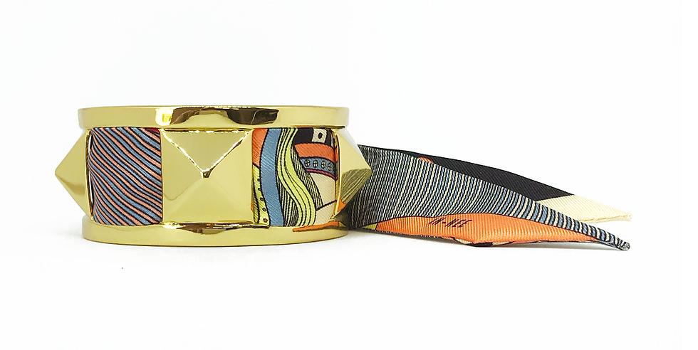 Manchette 3cm CLOU - Bracelet Dame de coeur, Orange