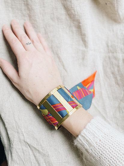 Grande Manchette JMA et bracelet Libre, orange