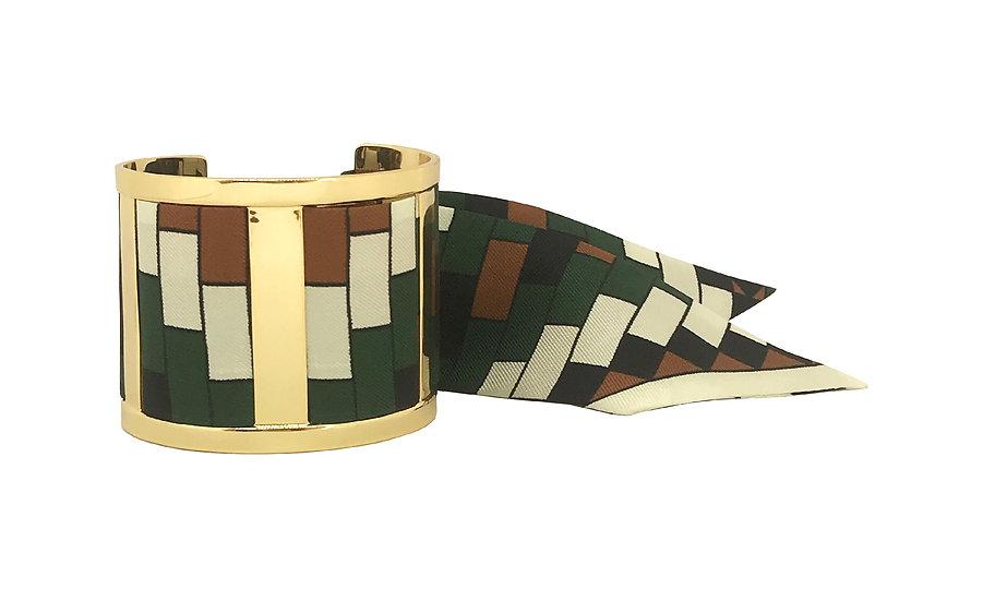 Grande Manchette JMA - Mosaïques Vert foncé