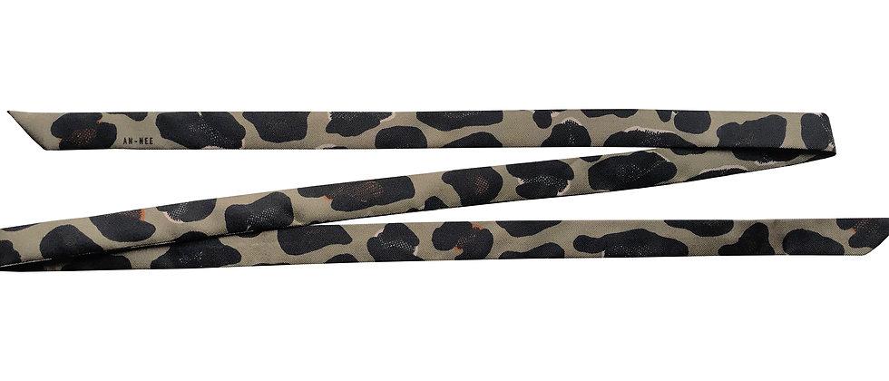 Lacet fin de 130cm - Léopard, taupe
