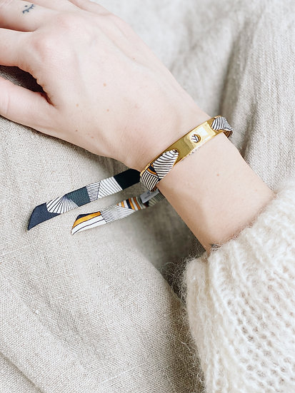 Bracelet Proust et ruban Libre, noir