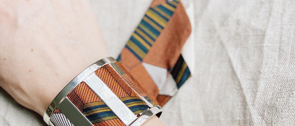 Grande Manchette JMA et bracelet Libre, blanc cassé