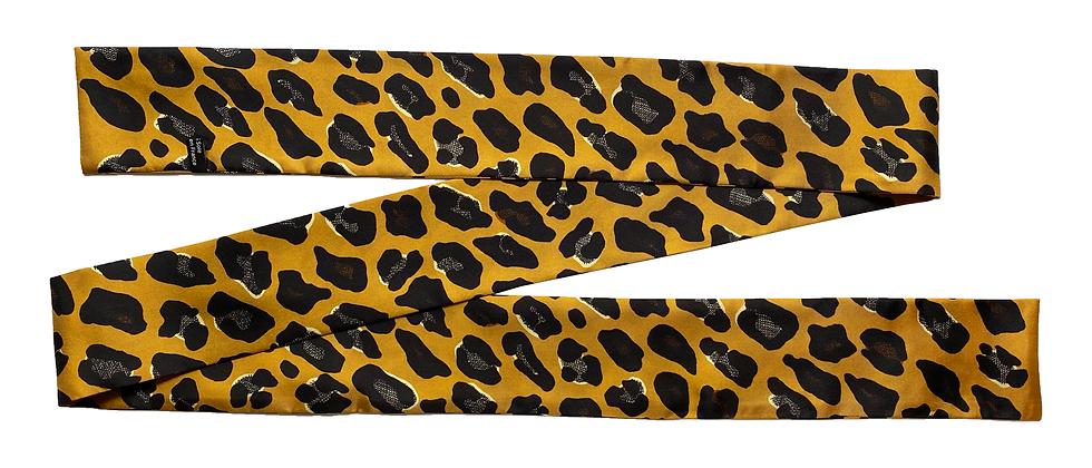 Headband ceinture Léopard, moutarde
