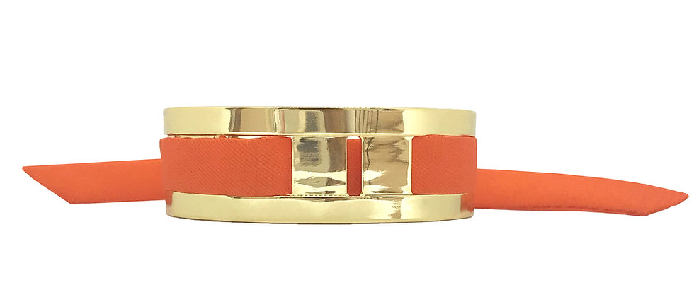 Petite Manchette JMA de 2 cm - Bracelet Orange