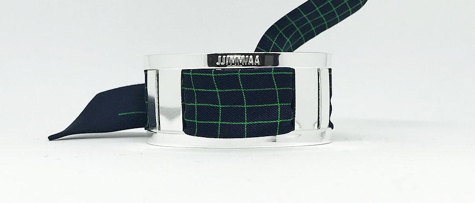Petite manchette argent & son bracelet La Dictée - Flou