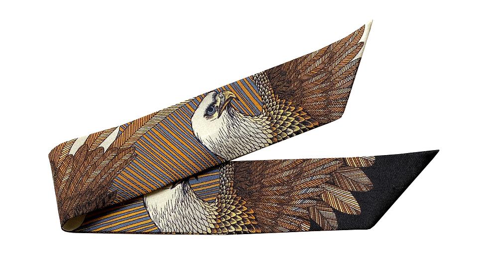 Bracelet 4cm - L'aigle, blanc cassé