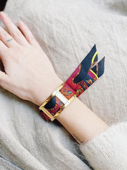 Manchette JMA de 3 cm - Bracelet Le Tigre, cerise