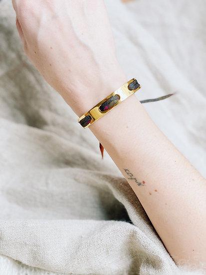 Bracelet Proust et ruban L'Aigle, khaki