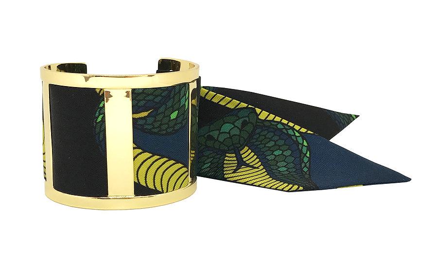 Grande Manchette JMA et le bracelet Cobra Bleu Canard