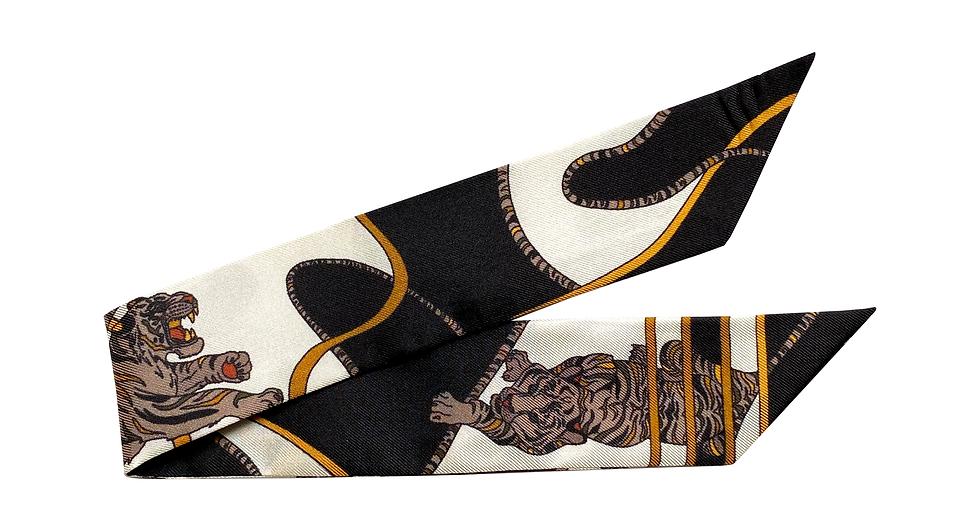 Bracelet 4cm - Le Tigre, blanc cassé