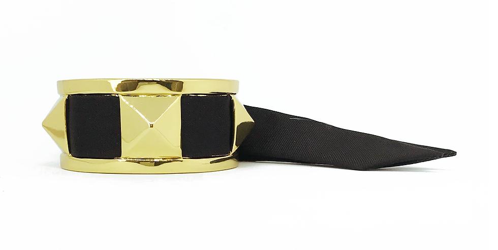 Manchette 3cm CLOU - Bracelet Noir