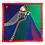 Thumbnail: Carré 90 cm - Dame de Coeur - Colori Primaire