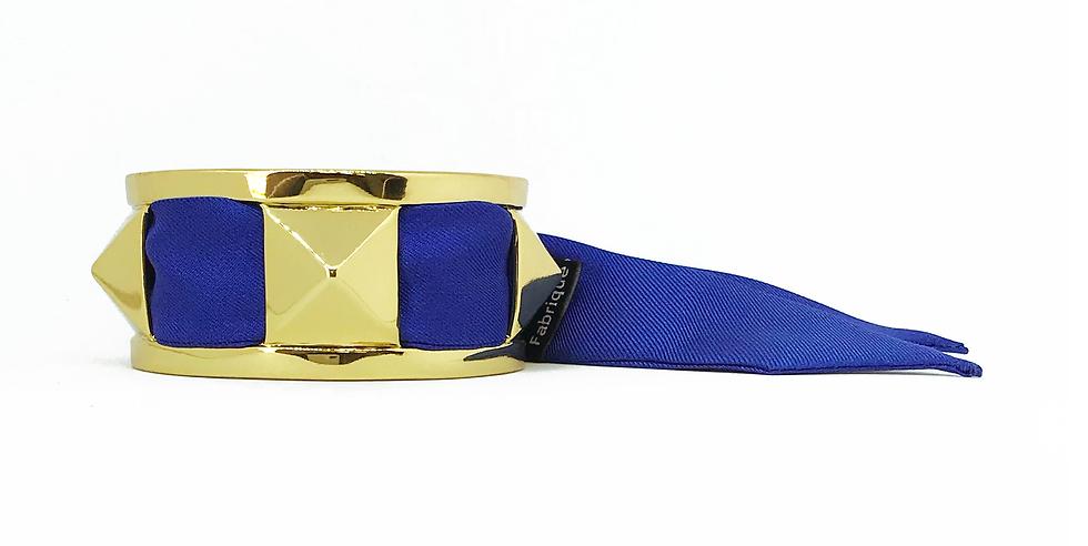 Manchette 3cm CLOU - Bracelet Bleu électrique