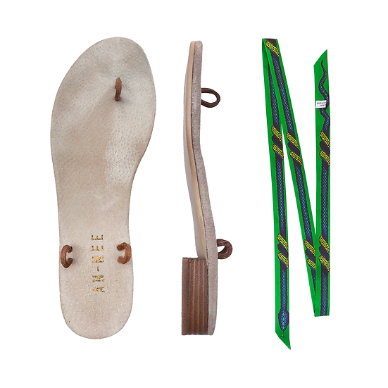 Sandales Horae - Lacets La Vie / Vert