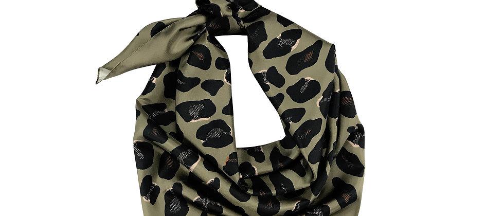 Carré 110 cm - Leopard - Khaki/Taupe
