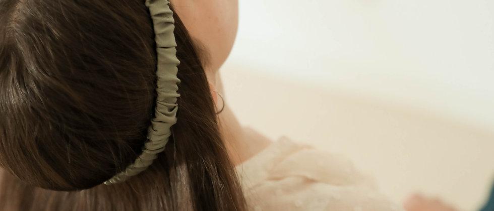 Headband froncé - Vert séché