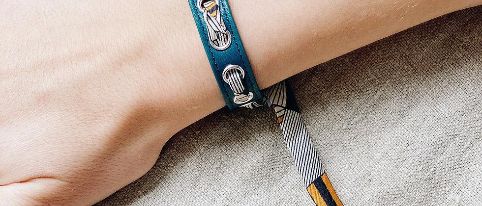 Bracelet octane Cycle & ruban Libre, noir